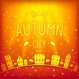 Sunny sparkling autumn city Stock Images
