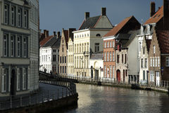 Sunny spell in Bruges (Belgium) Royalty Free Stock Photos