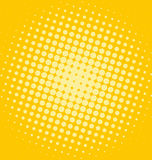 Sunny spotted design. Sunny yellow summer halftone background Stock Images