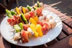 Sunny Spring Day Barbecue Lizenzfreie Stockfotos