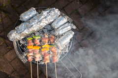 Sunny Spring Day Barbecue foto de stock royalty free