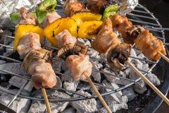 Sunny Spring Day Barbecue Stockfotos