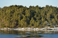 Sunny spring day. Island in Baltic Sea. Stock Photo