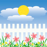 Sunny spring garden Stock Photo