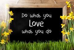 Sunny Spring Narcissus, Chalkboard, Quote Do What You Love