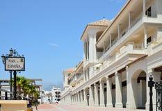 Sunny Square Of Spain In Nerja Royalty Free Stock Image