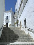 Sunny stairway, Spain Royalty Free Stock Images