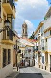 Sunny Street Of Spanish City Cabra Stock Images