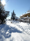 Sunny Street After a Snow Storm Stock Image