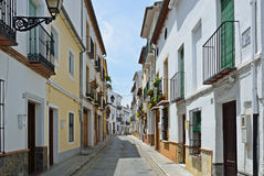 Sunny street of Spanish city Granada Stock Photography