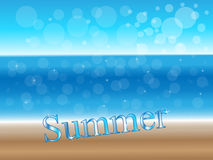 Sunny Summer Background Stock Images