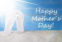 Sunny Summer Background, jour de mères heureux des textes Image stock