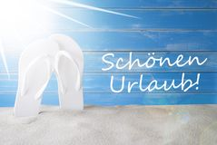Sunny Summer Background, medios de Schoenen Urlaub buenas fiestas imagen de archivo libre de regalías