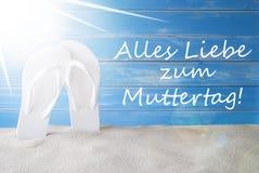 Sunny Summer Background, Muttertag veut dire le jour de mères heureux Image libre de droits