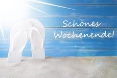 Sunny Summer Background, Schoenes Wochenende significa fin de semana feliz imagen de archivo libre de regalías