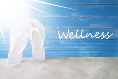 Sunny Summer Background, Tekst Wellness stock afbeeldingen