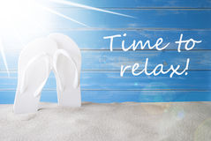 Sunny Summer Background, Text Time To Relax Stock Images