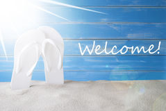 Sunny Summer Background, Text Welcome Stock Photography