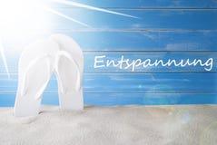 Sunny Summer Blue Background, Entspannung significa la relajación imagen de archivo libre de regalías