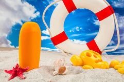 Sunny summer concept, saturated colors Royalty Free Stock Images