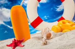Sunny summer concept, saturated colors Royalty Free Stock Photos