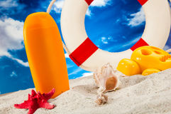 Sunny summer concept, saturated colors Stock Image