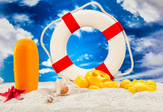 Sunny summer concept, saturated colors Stock Photography