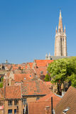 Sunny summer day in Bruges Stock Images