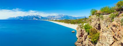 Sunny summer day with clear blue sky in Antalya, Turkey Stock Photos