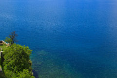 Sunny summer day at the Lake Ohrid in Macedonia. Sunny summer day at the beautiful Lake Ohrid in Macedonia Royalty Free Stock Image