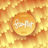 Sunny Summer Days poster. Trendy style. Vector illustration design Stock Photo