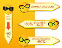 Sunny summer discounts Stock Image