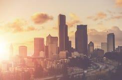 Sunny Summer en Seattle fotografía de archivo libre de regalías