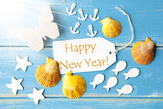 Sunny Summer Greeting Card With Text Happy New Year Stock Photos