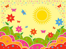 Sunny summer landscape as wallpaper Royalty Free Stock Photos