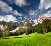 Sunny summer view of Daeumling mountain range Stock Photography