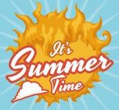 Sunny Summertime Reminder, ejemplo del vector Fotos de archivo