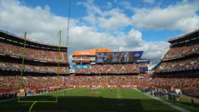 A sunny Sunday at First Energy Stadium in Cleveland, Ohio. FirstEnergy Stadium, officially FirstEnergy Stadium, Home of the Cleveland Browns, is a multi-purpose stock photos