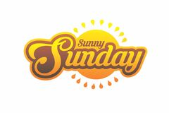 Sunny Sunday. Typoghraphy about sunny sunday, the expression of happiness on sunday Royalty Free Stock Image