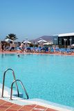 Sunny swimming pool Royalty Free Stock Images