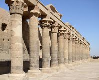 Sunny temple of Isis detail Stock Photo