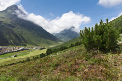 Sunny Tirol Valley Landscape Stock Images