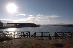 sunny titikaka jezioro Zdjęcia Royalty Free