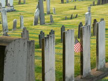 Sunny tombstones Stock Photo