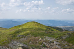 Sunny top of a mountain Royalty Free Stock Photography