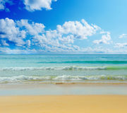 Sunny tropical beach on the island Stock Photo