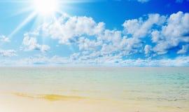 Sunny tropical beach on the island Royalty Free Stock Photos