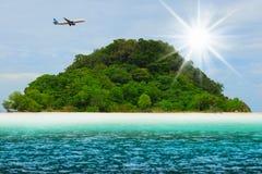 Sunny tropical beach on the island Stock Photo