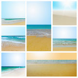 Sunny tropical beach on the island Stock Photography