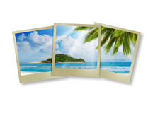 Sunny tropical beach on the island Royalty Free Stock Images